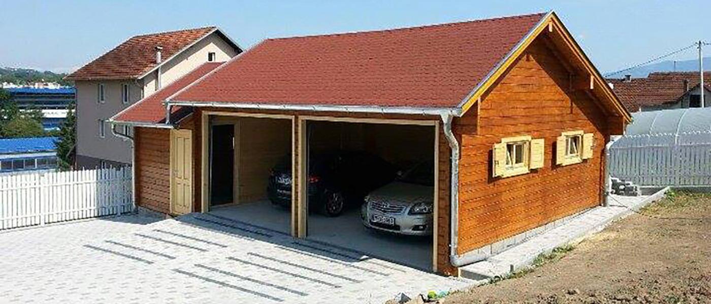 JelaDOM Garaza za dva automobila sa radionicom